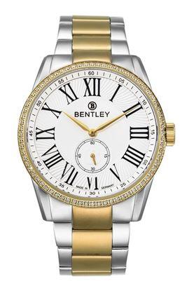<p>D&ograve;ng sản phẩm: Bentley Classic</p> <p>Xuất xứ: Đức</p> <p>Chất liệu vỏ: to&agrave;n bộ th&acirc;n vỏ v&agrave; d&acirc;y đeo bằng th&eacute;p kh&ocirc;ng gỉ.</p> <p>Chất liệu k&iacute;nh: K&iacute;nh sapphire</p> <p>K&iacute;ch thước: 43mm</p> <p>Kiểu m&aacute;y: Miyota 1L45</p>