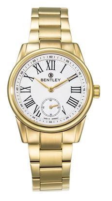 <p>D&ograve;ng sản phẩm: Bentley Classic</p> <p>Sản xuất tại: Đức</p> <p>Chất liệu vỏ: to&agrave;n th&acirc;n v&agrave; d&acirc;y đeo bằng th&eacute;p kh&ocirc;ng gỉ.</p> <p>Chất liệu thủy tinh: k&iacute;nh sapphire</p> <p>K&iacute;ch thước: 32mm</p> <p>Loại m&aacute;y: Miyota GN10</p>