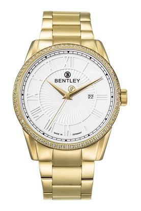 <p>D&ograve;ng sản phẩm: Bentley Classic</p> <p>Xuất xứ: Đức</p> <p>Chất liệu vỏ: to&agrave;n bộ th&acirc;n vỏ v&agrave; d&acirc;y đeo bằng th&eacute;p kh&ocirc;ng gỉ.</p> <p>Chất liệu k&iacute;nh: K&iacute;nh sapphire</p> <p>K&iacute;ch thước: 42mm</p> <p>Kiểu m&aacute;y: Miyota 1L45</p>