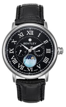 <p>Dòng sản phẩm: Bentley Denarium</p> <p>Xuất xứ: Đức</p> <p>Chất liệu vỏ: toàn bộ thân vỏ bằng thép không gỉ.</p> <p>Chất liệu dây: Dây da</p> <p>Chất liệu kính: Kính sapphire</p> <p>Kích thước: 42mm</p> <p>Kiểu máy: Miyota6P20</p>