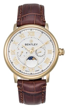 <p>Dòng sản phẩm: Bentley Classic</p> <p>Xuất xứ: Đức</p> <p>Chất liệu vỏ: toàn bộ thân vỏ và dây đeo bằng thép không gỉ.</p> <p>Chất liệu kính: Kính sapphire</p> <p>Kích thước: 42mm</p> <p>Kiểu máy: Miyota6P20</p>