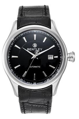 <p>D&ograve;ng sản phẩm: Bentley Automatic</p> <p>Xuất xứ: Đức</p> <p>Chất liệu vỏ: to&agrave;n bộ th&acirc;n vỏ bằng th&eacute;p kh&ocirc;ng gỉ.</p> <p>Chất liệu k&iacute;nh: K&iacute;nh sapphire</p> <p>K&iacute;ch thước: 43mm</p> <p>Kiểu m&aacute;y: Miyota 8215-Automatic</p> <p>Chất liệu d&acirc;y: D&acirc;y da</p> <p>Độ chịu nước: 30 m</p>