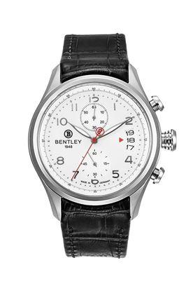 <p>Dòng sản phẩm: BentleyAviator</p> <p>Xuất xứ: Đức</p> <p>Chất liệu vỏ: toàn bộ thân vỏ bằng thép không gỉ.</p> <p>Chất liệu dây: Dây da</p> <p>Chất liệu kính: Kính sapphire</p> <p>Kích thước: 43mm</p> <p>Kiểu máy:VK61</p> <p>Chất liệu dây: Dây da</p> <p>Độ chịu nước: 30 m</p>