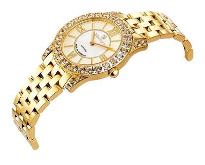 <p>D&ograve;ng sản phẩm: Bentley&nbsp;Muse</p> <p>Xuất xứ: Đức</p> <p>Chất liệu vỏ: to&agrave;n bộ th&acirc;n vỏ bằng th&eacute;p kh&ocirc;ng gỉ.</p> <p>Chất liệu k&iacute;nh: K&iacute;nh sapphire</p> <p>K&iacute;ch thước đồng hồ: 31mm</p> <p>Kiểu m&aacute;y: RONDA762</p> <p>Kiểu d&acirc;y: D&acirc;y bằng th&eacute;p kh&ocirc;ng gỉ</p> <p>K&iacute;ch thước d&acirc;y: 16x16 mm&nbsp;</p> <p>Độ chịu nước: 30m</p>