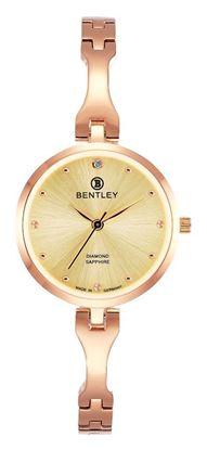 <p>D&ograve;ng sản phẩm: Bentley&nbsp;Enchanting ERA</p> <p>Xuất xứ: Đức</p> <p>Chất liệu vỏ: to&agrave;n bộ th&acirc;n vỏ bằng th&eacute;p kh&ocirc;ng gỉ.</p> <p>Chất liệu k&iacute;nh: K&iacute;nh sapphire</p> <p>K&iacute;ch thước đồng hồ: 28mm</p> <p>Kiểu m&aacute;y: VJ21</p> <p>Kiểu d&acirc;y: D&acirc;y bằng th&eacute;p kh&ocirc;ng gỉ</p> <p>K&iacute;ch thước d&acirc;y: 7.5x6 mm&nbsp;</p> <p>Độ chịu nước: 30m</p>