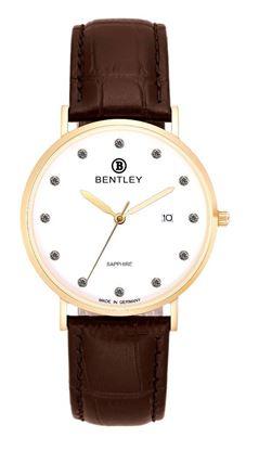 <p>D&ograve;ng sản phẩm: Bentley&nbsp;Simply Chic</p> <p>Xuất xứ: Đức</p> <p>Chất liệu vỏ: to&agrave;n bộ th&acirc;n vỏ bằng th&eacute;p kh&ocirc;ng gỉ.</p> <p>Chất liệu k&iacute;nh: K&iacute;nh sapphire</p> <p>K&iacute;ch thước đồng hồ: 38mm</p> <p>Kiểu m&aacute;y: MIYOTA GM10</p> <p>Kiểu d&acirc;y: D&acirc;y da</p> <p>Độ chịu nước: 30m</p>