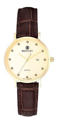 <p>D&ograve;ng sản phẩm: Bentley&nbsp;Simply Chic</p> <p>Xuất xứ: Đức</p> <p>Chất liệu vỏ: to&agrave;n bộ th&acirc;n vỏ bằng th&eacute;p kh&ocirc;ng gỉ.</p> <p>Chất liệu k&iacute;nh: K&iacute;nh sapphire</p> <p>K&iacute;ch thước đồng hồ: 30mm</p> <p>Kiểu m&aacute;y: MIYOTA GL10</p> <p>Kiểu d&acirc;y: D&acirc;y da</p> <p>Độ chịu nước: 30m</p>