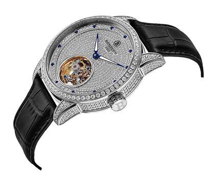 <p>&nbsp;</p> <p>D&ograve;ng sản phẩm: Bentley Tourbillon</p> <p>Xuất xứ: Đức</p> <p>Chất liệu vỏ: to&agrave;n bộ th&acirc;n vỏ v&agrave; d&acirc;y đeo bằng th&eacute;p kh&ocirc;ng gỉ, cẩn hạt Sapphire</p> <p>Chất liệu k&iacute;nh: K&iacute;nh sapphire</p> <p>K&iacute;ch thước: 43mm</p> <p>Kiểu m&aacute;y:&nbsp;Tourbillon</p>