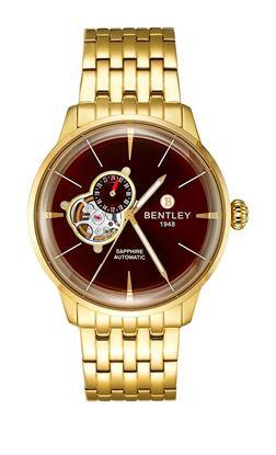 <p>D&ograve;ng sản phẩm: Bentley Jazz Heartbeat</p> <p>Xuất xứ: Đức</p> <p>Chất liệu vỏ: to&agrave;n bộ th&acirc;n vỏ bằng th&eacute;p kh&ocirc;ng gỉ.</p> <p>Chất liệu k&iacute;nh: K&iacute;nh sapphire</p> <p>Chất liệu d&acirc;y: Th&eacute;p kh&ocirc;ng gỉ</p> <p>K&iacute;ch thước: 42mm</p> <p>Kiểu m&aacute;y: NH39</p> <p>Độ chịu nước: 50 m</p>