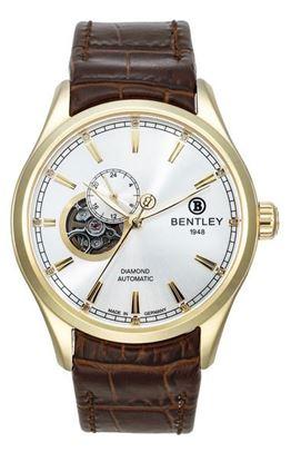 <p>D&ograve;ng sản phẩm: Bentley Aviator</p> <p>Xuất xứ: Đức</p> <p>Chất liệu vỏ: to&agrave;n bộ th&acirc;n vỏ v&agrave; d&acirc;y đeo bằng th&eacute;p kh&ocirc;ng gỉ.</p> <p>Chất liệu k&iacute;nh: K&iacute;nh sapphire</p> <p>K&iacute;ch thước: 43mm</p> <p>Kiểu m&aacute;y:&nbsp;NH39 / Automatic</p> <p>Độ chịu nước: 30 m</p>